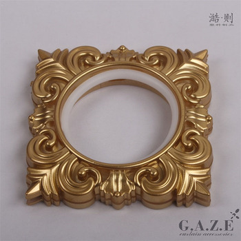 44mm self-tightening light square embossed window decorative curtain eyelet plastic ring
