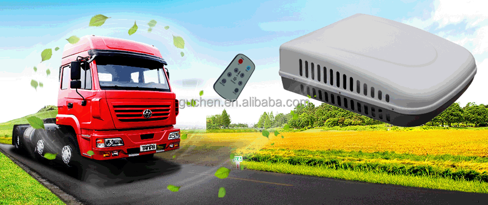 Hot sale Rooftop mounted 24 volt DC powered electric truck sleeper air conditioner for cooling
