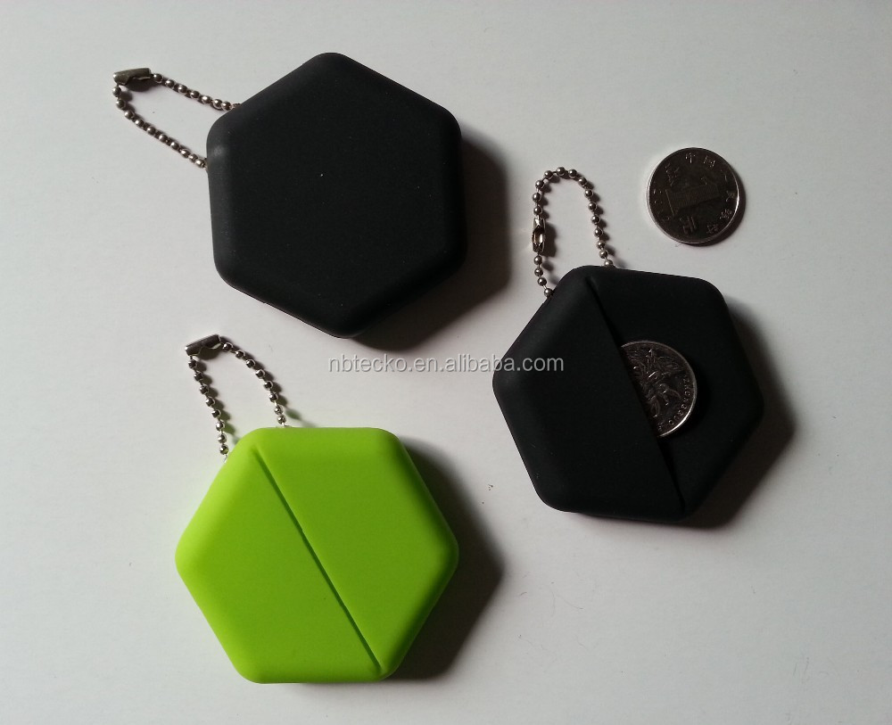 Promotional Hexagon shape PVC coin purse/coin holder