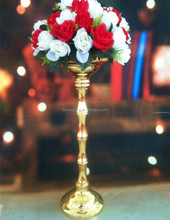 Popular Artifical gold color Flower Metal Vase wedding decoration wedding centerpiece &Party&Home&Venue decoration