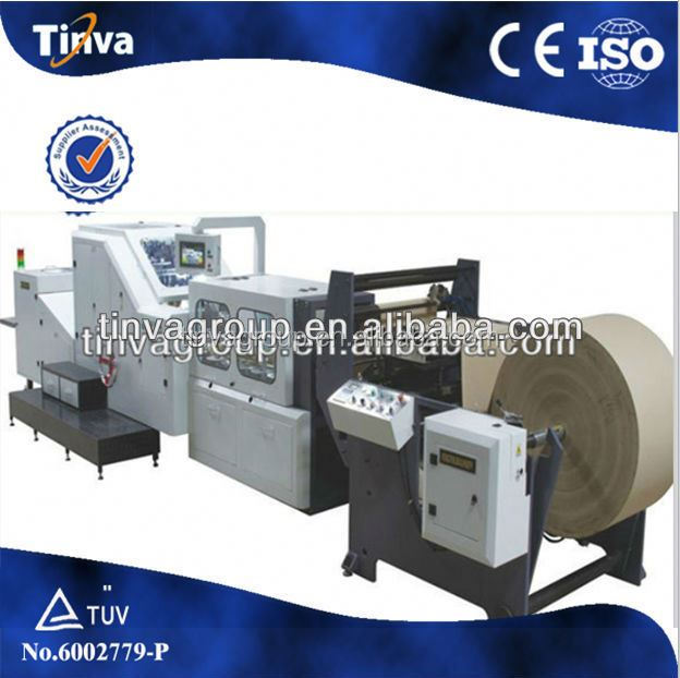CE ISO China supplier paper shopping bag making machine