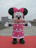 Popular Movable Cartoon Minnie Mouse inflatable clothes