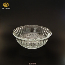 China manufacture 750ml fancy embossed clear cheap glass bowl wholesale