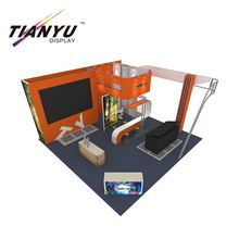 Factory price aluminum island exhibition booth design and building service