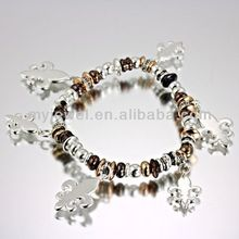 Fleur De Lis Stretch Bracelet-OB03293/3T diy korea fashion bracelet