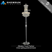 Modern cheap crystal chandelier floor lamp closeout