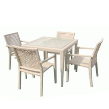 Wicker patio balcony furniture leisure rattan table and chair garden table set