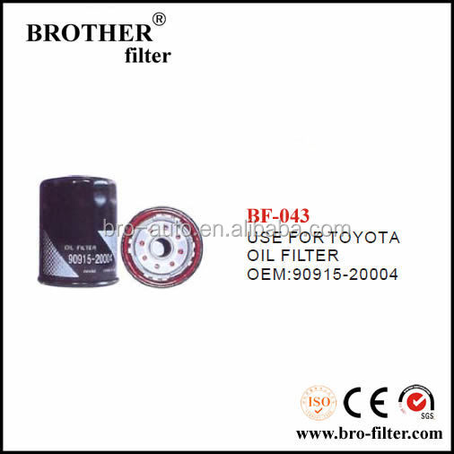 High quality OEM auto element oil filter 9091520004 for Toyota filter for olive oil