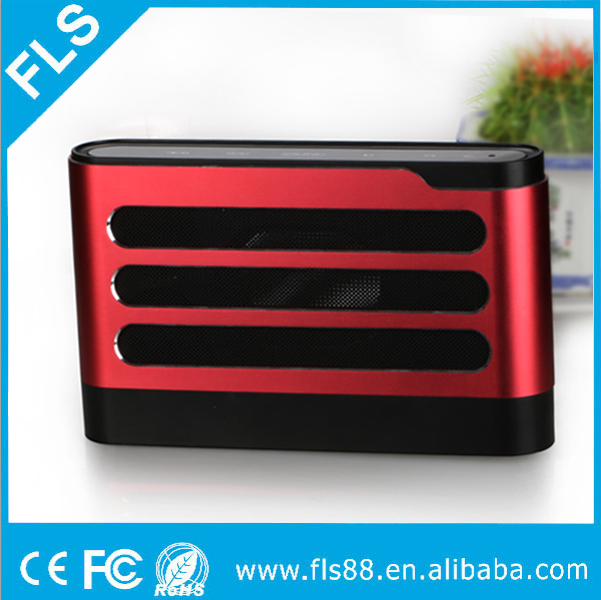 New Portable High End Factory Own Aluminium alloy NFC Touch Button Deep Bass Best Bluetooth Speaker