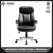 Stable High back modern office conference chair , Upholstered leather meeting chair