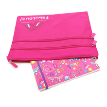 LOOKING Characteristic Girly Double Pencil Case