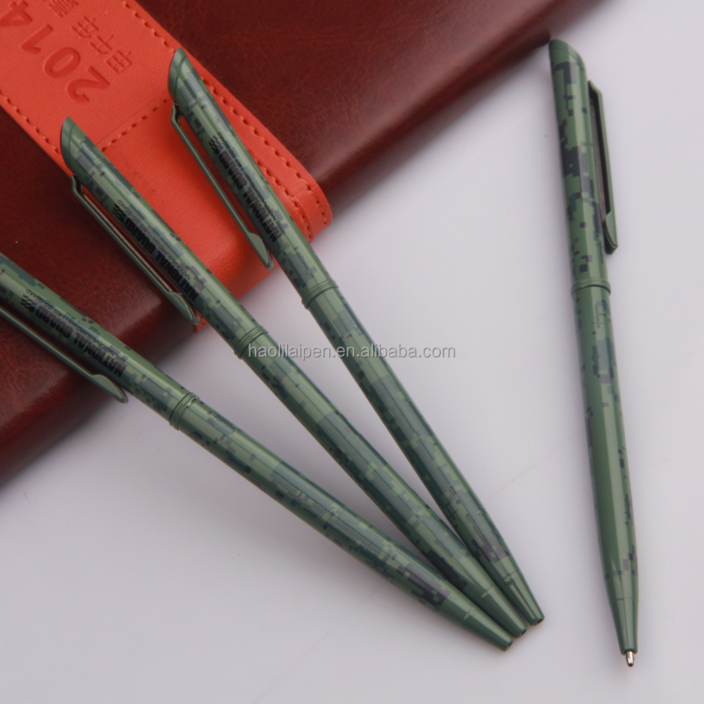 Best selling products slim twist metal ball pen with Epoxy logo