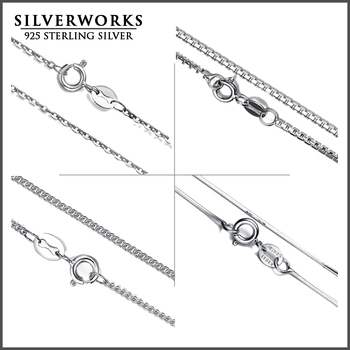Italian High Quality 925 Sterling Silver Snake Rolo Curb silver chain supplier