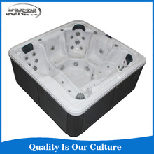Newest Arrival Luxury Big Freestanding 8 Person Hydro Whirlpool Massage Swimming Pool acrylic transparent bathtub