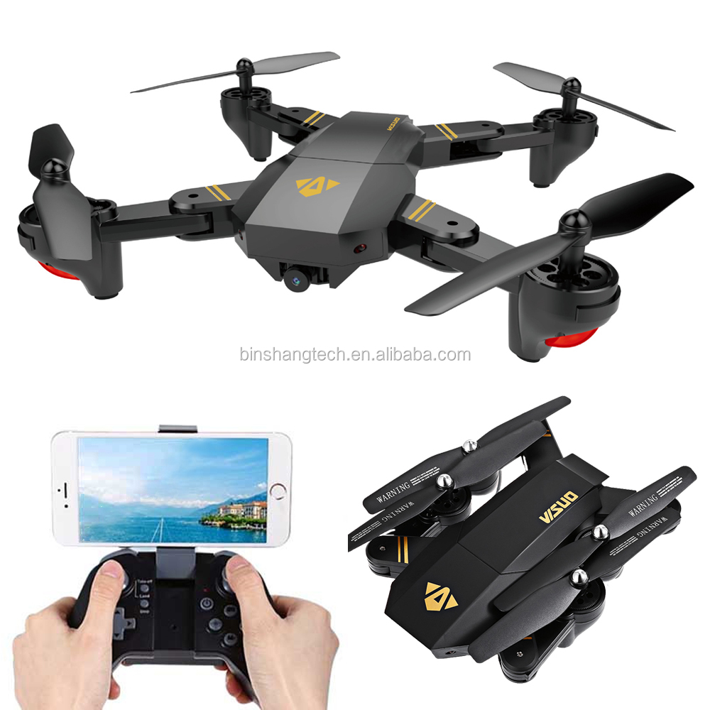 Visuo XS809W XS809HW Mini Foldable Selfie Quadcopter Drone with Wifi FPV 2MP wide angle lens Camera
