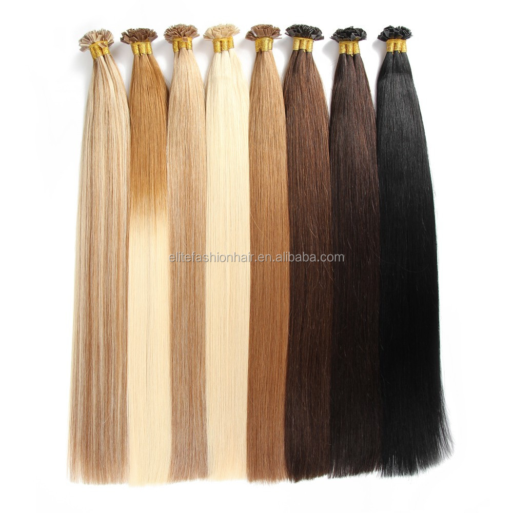 Elite Fashion Hair Double Drawn Brazillian Remy Flat Tip Hair Extensions