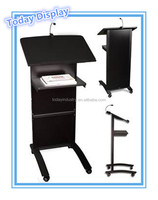 Black wood Lectern/lectern podium/stainless steel lectern podium