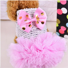 Petcircle Hotsale Pet Dog Clothes Dog Dress Summer Luxury Princess Pet Dog Wedding Dress chihuahua Cat Dress Puppy Skirt clothes