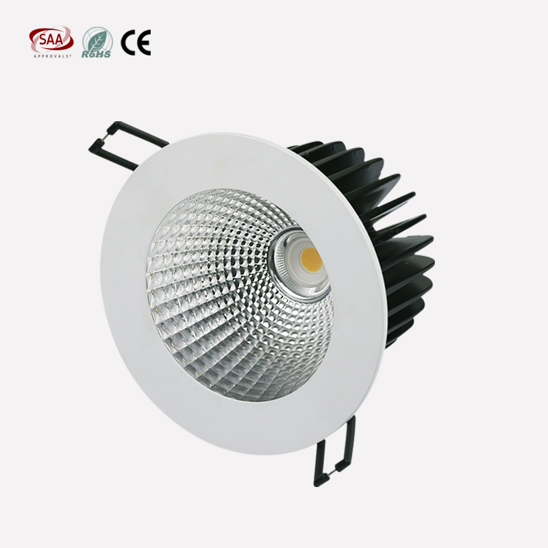 Decorate led lighting cut out size 90mm 2.5 inch 13w cob downlight dimmable