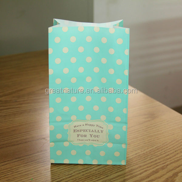 Dotted paper gift bags, packaging bags without handles