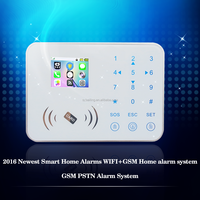 Energy saving touch keypad wifi/gsm home security alarm system long distance anti-thief home/warehouse/shop fire alarm system