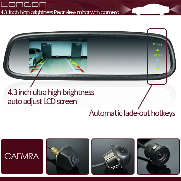 "4.3"" Special Mirror Monitor with Lowest Price and Best Quality for Car Dealers"