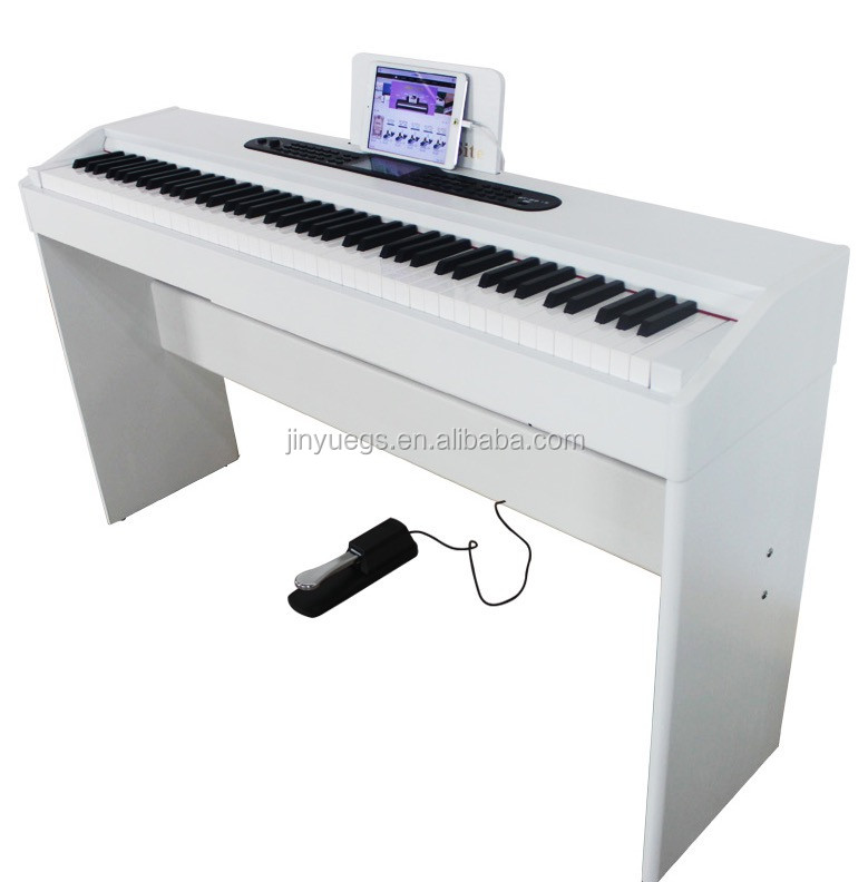 electrical music instruments china digital piano , white wooden piano