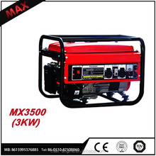 Low noise 6.5Hp OHV Small 4 Stroke Gasoline Generator 168F-1 3000W For Sale