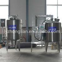 BS-500 type 500L milk Pasteurizer Sterilization machine