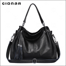Casual Handbags Fringed Leather Female Free Catalog Shoe and Handbag Sets