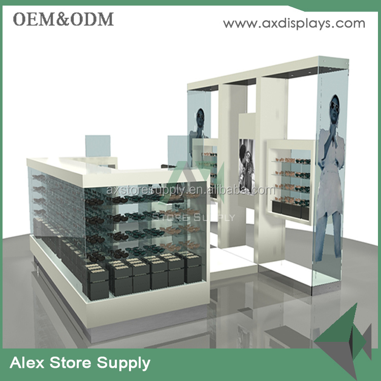 Customized sunglasses retails MDF shop display counter