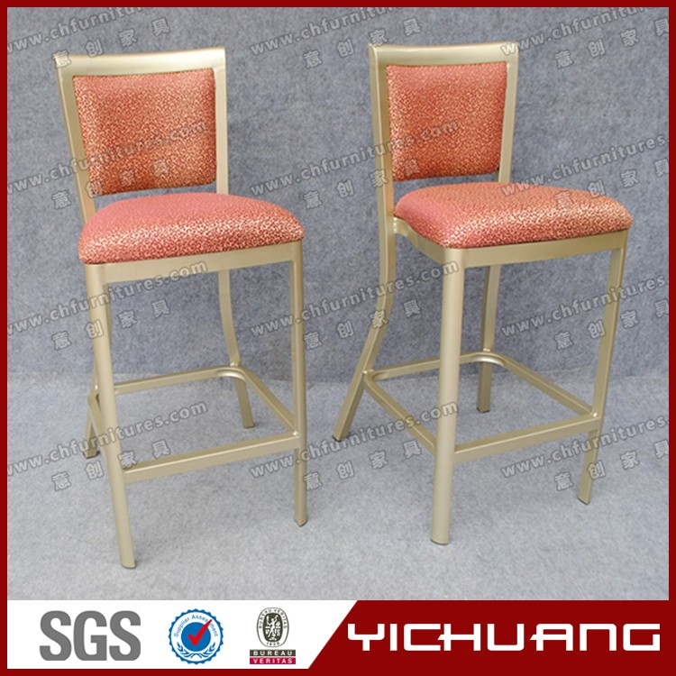 High quality aluminum frame and high density spong cushion bar stool YC-H005