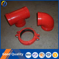 China ductile iron pipe fittings tee