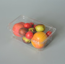 Customized Clear PET Plastic Food Fruit Clamshell Blister Packaging Box/disposable salad container