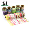 High Quality Low Price Lovely Floral Colorful Printed Flower Pattern Gold Foil Japanese Washi Paper Masking Tape Wholesale
