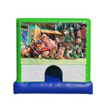 Air Blower 220V Inflatable Farmer Banner Jumping Bouncer Kids Used Playhouse Cheap Bounce Houses With Roof