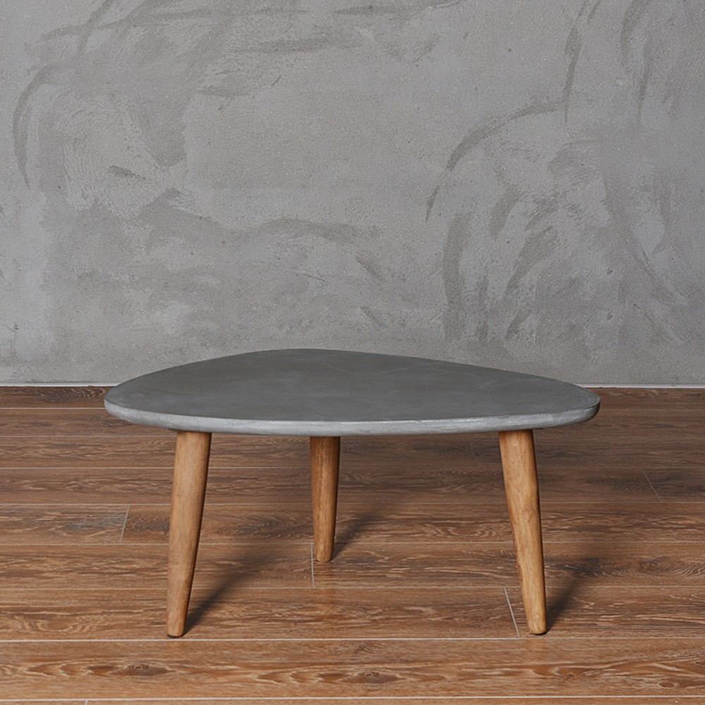 Pastoral LOFT Style Triangle Cement-colored Coffee <strong>Table</strong> with Middle Size
