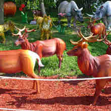 Life size deer lantern with lightProfessional lantern factory in China
