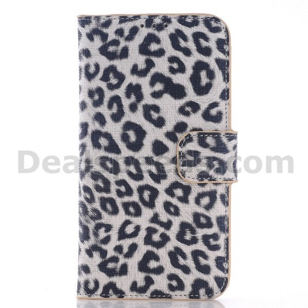 Leopard B Pattern Wallet Magnetic PC + PU Leather Cover Flip Stand Case for Samsung Galaxy S7 Edge
