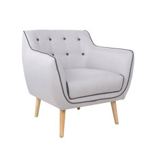 Home furniture single seater living room upholstered wooden luxury sofa chair