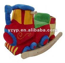 new best and lovely Train plush baby rocking horse