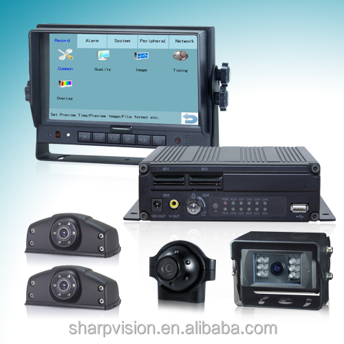 7 inches Touch Control mobile dvr System with 3g, 4g,wifi, G-sensor and GPS Tracking