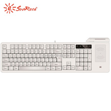 smart card integrated full functional with Biometric fingerprint reader mechanical keyboard