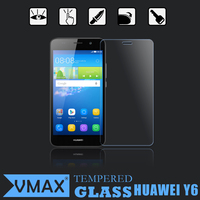 Mobile Phone accessories 0.26mm 9H 2.5D round edge Premiun Tempered glass screen protector for Huawei Y6
