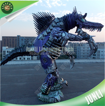 Lisaurus-CH1057 Led Lights Robot Armor Dinosaur costumes T-rex Dinosaur for EVA