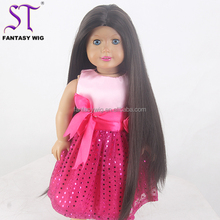 Alibaba In Usa Japanese Hair Long Black Straight 18 Inch Doll Wig For American Girl Doll Wigs For Sale Cheap