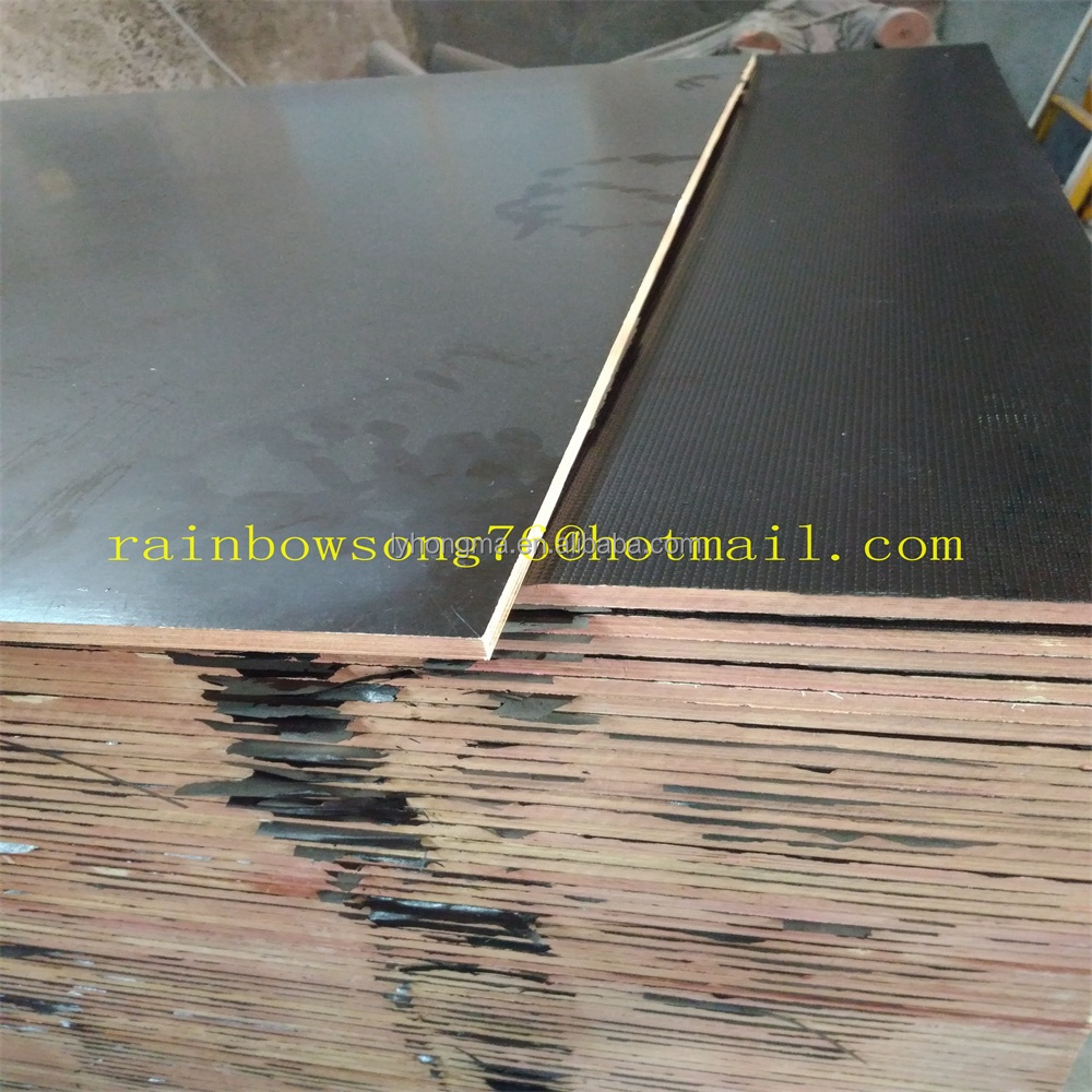 12mm 9layers 18mm 13layers antislip film faced plywood marine plywood concrete shuttering plywood