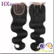 Factory Price large Stocks All Length Available Indian Hair Weave Top Closure