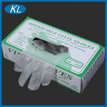 Excellent disposable non-toxic quality 100 vinyl gloves for health and medical