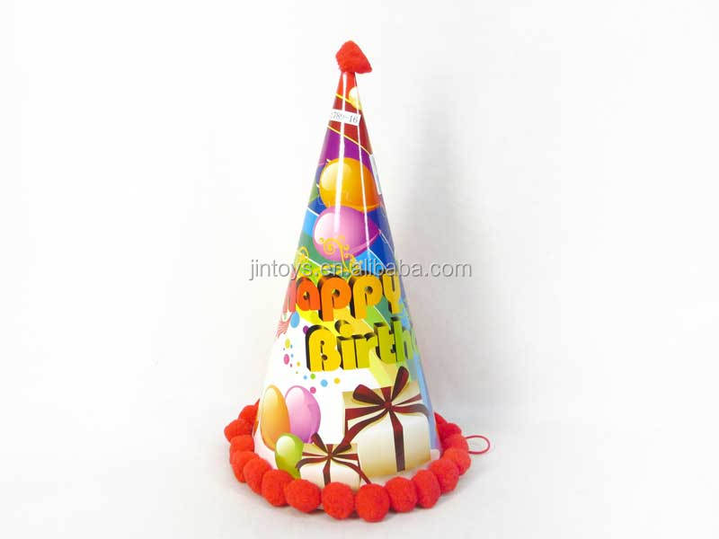 Hot sale low price birthday party decoration cap, 34CM high promotion party cap